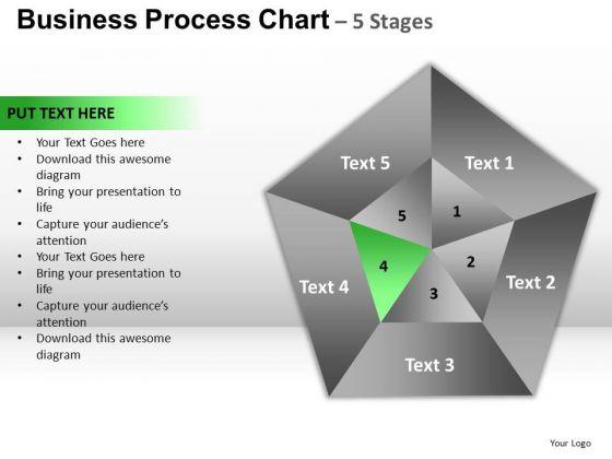 PowerPoint Slides Sales Pentagon Pie Chart Ppt Theme