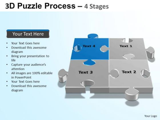 PowerPoint Slides Sales Puzzle Process Ppt Themes