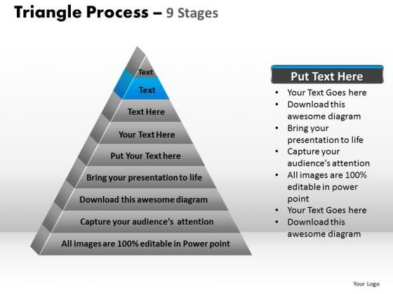 PowerPoint Slides Sales Triangle Process Ppt Themes