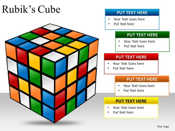 PowerPoint Slides Showing Rubiks Cube Ppt Diagram