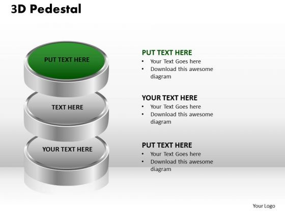 PowerPoint Slides Strategy 3d Pedestal Ppt Presentation