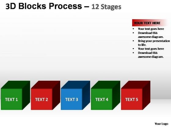 PowerPoint Slides Strategy Building Blocks Ppt Themes