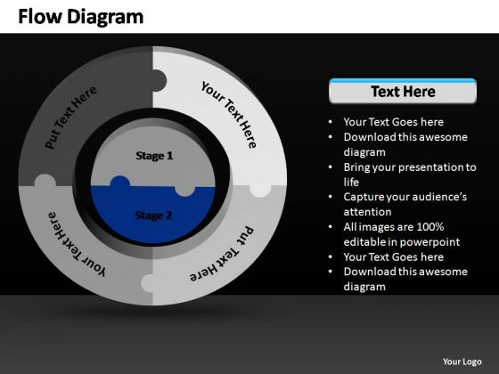 PowerPoint Slides Strategy Business 3d Circular Flow Ppt Designs