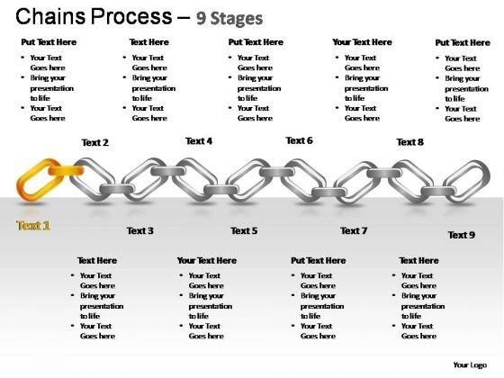 PowerPoint Slides Strategy Chains Ppt Process