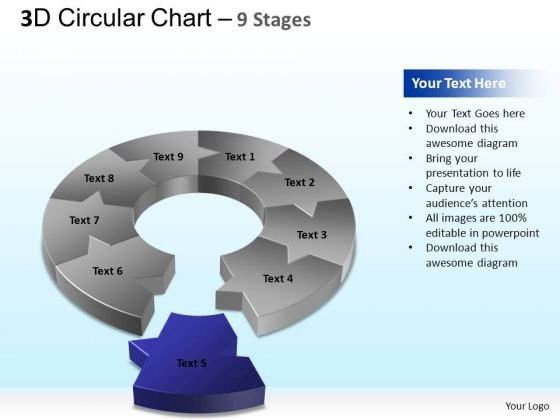 PowerPoint Slides Strategy Circular Chart Ppt Design Slides