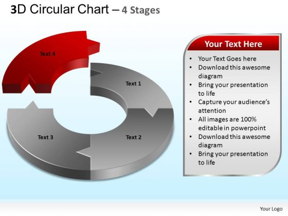 PowerPoint Slides Strategy Circular Chart Ppt Template