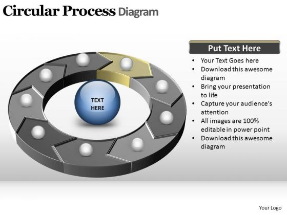 PowerPoint Slides Strategy Circular Process Ppt Design