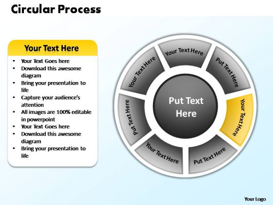 PowerPoint Slides Strategy Circular Process Ppt Layouts