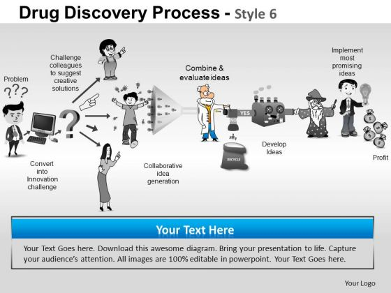 PowerPoint Slides Strategy Drug Discovery Ppt Layouts