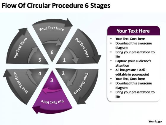 PowerPoint Slides Strategy Flow Of Circular Ppt Presentation