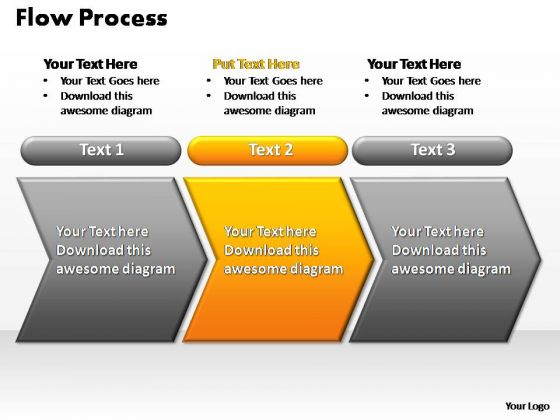 PowerPoint Slides Strategy Flow Process Ppt Slide