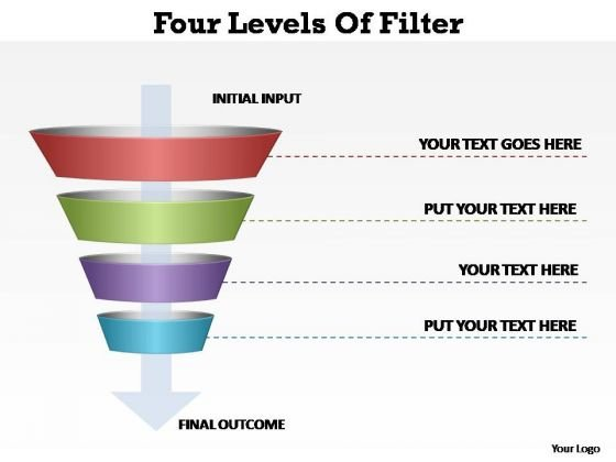 PowerPoint Slides Strategy Four Levels Of Filter Ppt Slides