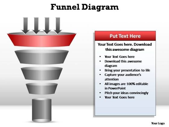 PowerPoint Slides Strategy Funnel Diagram Ppt Presentation
