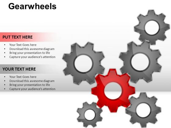 PowerPoint Slides Strategy Gear Wheel Ppt Designs