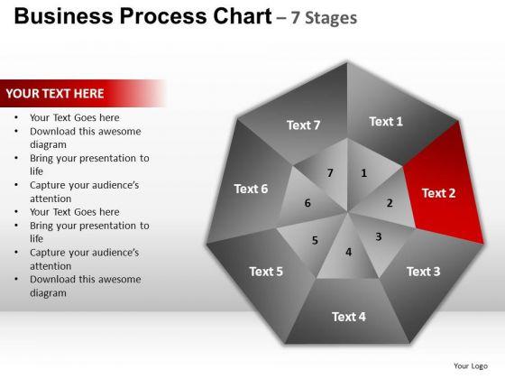 PowerPoint Slides Strategy Hexagon Pie Chart Ppt Theme