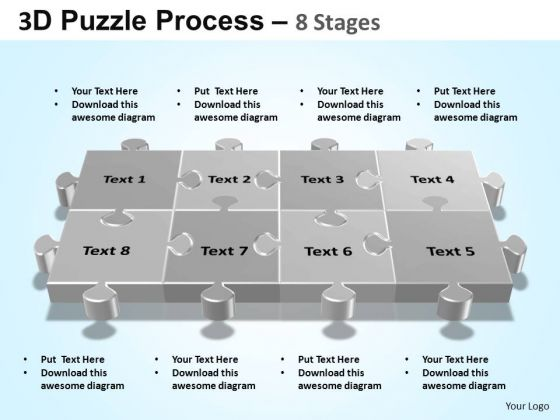PowerPoint Slides Strategy Puzzle Process Ppt Template