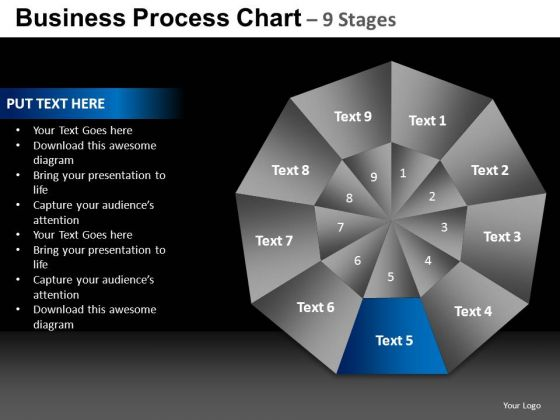 PowerPoint Slides Strategy Quadrant Diagram Chart Ppt Process