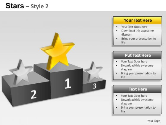 PowerPoint Slides Strategy Stars Ppt Designs