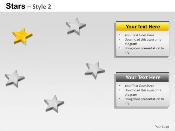 PowerPoint Slides Strategy Stars Ppt Layouts