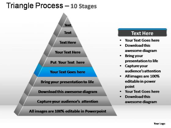 PowerPoint Slides Strategy Triangle Process Ppt Themes