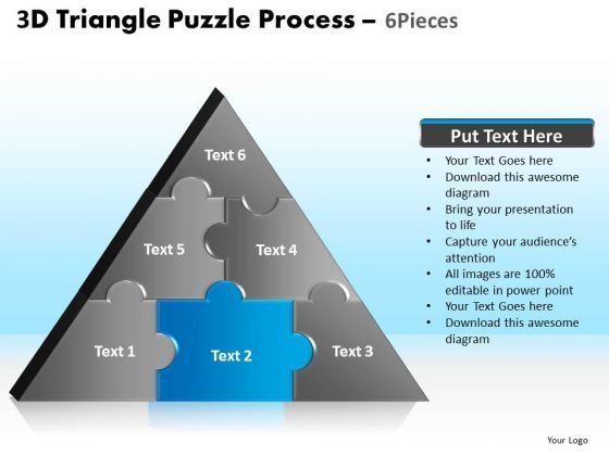 PowerPoint Slides Strategy Triangle Puzzle Ppt Backgrounds
