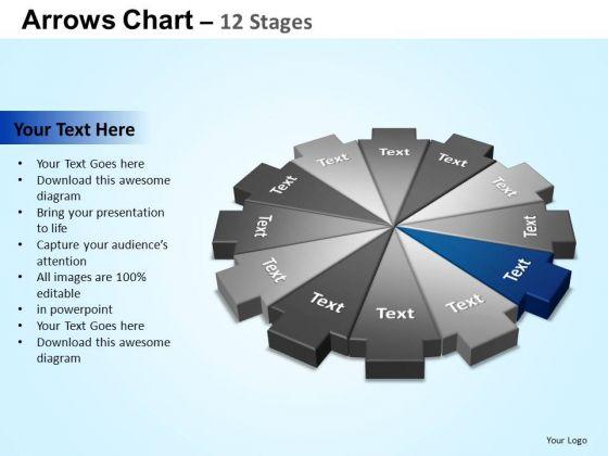 PowerPoint Slides Success Arrows Chart Ppt Presentation