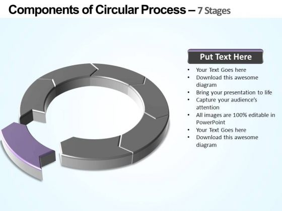 PowerPoint Slides Success Components Of Circular Ppt Slides