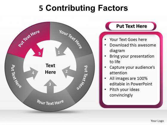 PowerPoint Slides Success Contributing Factors Ppt Design Slides