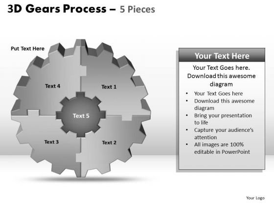 PowerPoint Slides Success Gear Process Ppt Slides