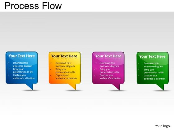 PowerPoint Slides Success Process Flow Ppt Themes
