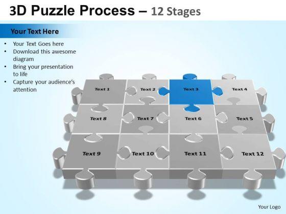 PowerPoint Slides Success Puzzle Process Ppt Design Slides