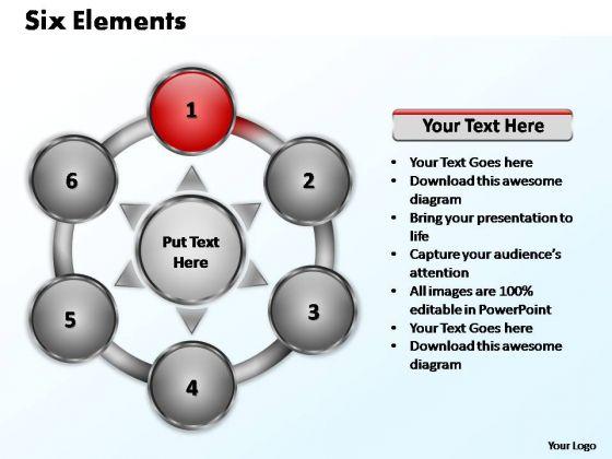 PowerPoint Slides Success Six Elements Ppt Templates