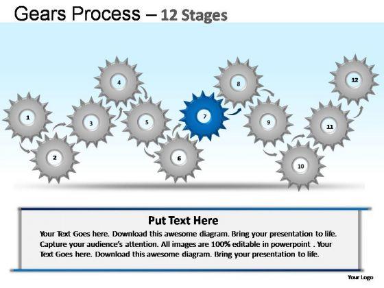 PowerPoint Slides Teamwork Gears Ppt Slides