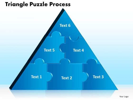 PowerPoint Slides Triangle Puzzle Process Ppt Slides