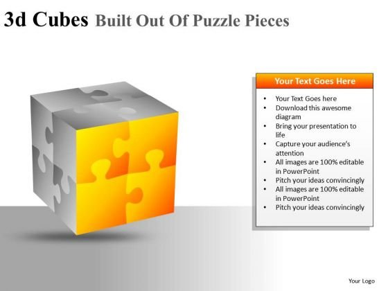 PowerPoint Slides With 3d Cube Editable Ppt Diagram Templates