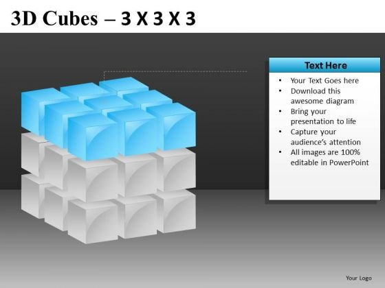 PowerPoint Slides With Cube Diagrams