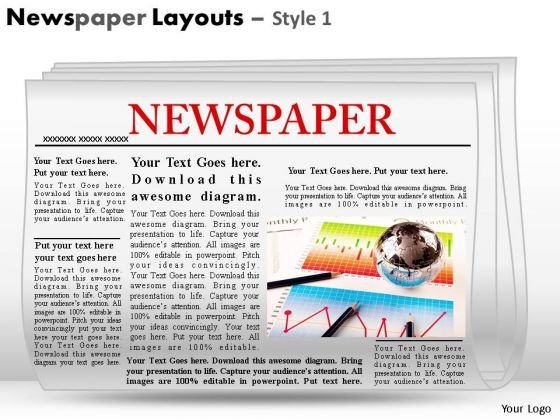 PowerPoint Slides With Editable Newspaper Headlines Ppt Templates