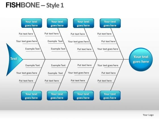 PowerPoint Slides With Fishbone Diagram