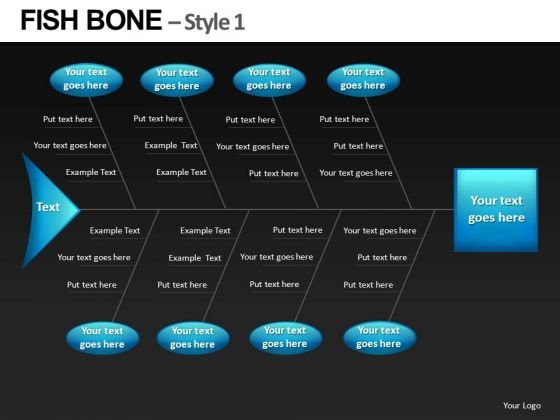 PowerPoint Slides With Fishbone Ppt Diagrams