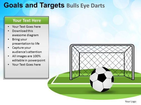 PowerPoint Soccer Success Goals And Targets Ppt Template