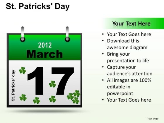 PowerPoint Template 17th March Patricks Day Ppt Theme