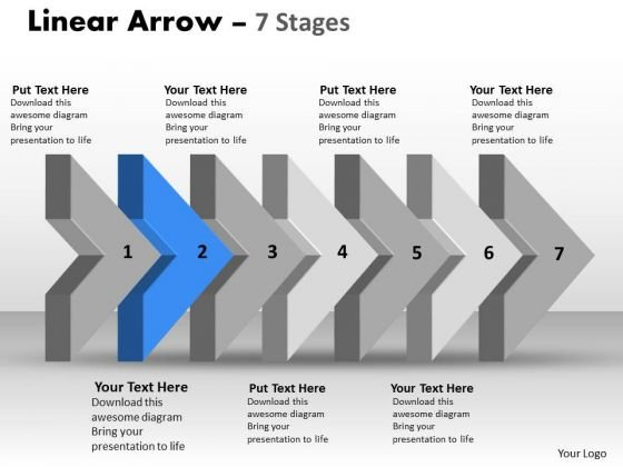 PowerPoint Template 3d Arrow Representing Realistic Steps Business Plan Image