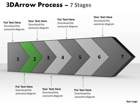 PowerPoint Template 3d Continuous Arrow Steps Diagram Project Management Business Image