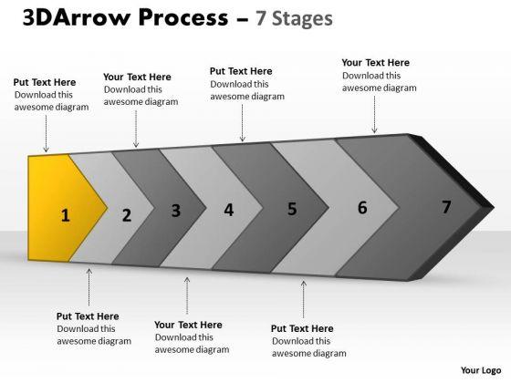 PowerPoint Template 3d Continuous Arrow Steps Diagram Project Management Image