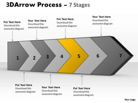 PowerPoint Template 3d Continuous Arrow Steps Ishikawa Diagram Business Image