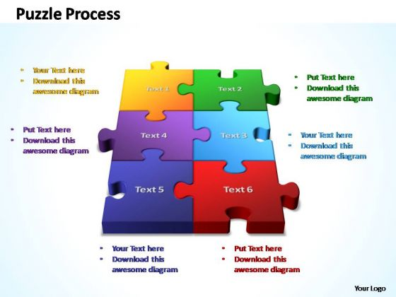PowerPoint Template Business 3d Puzzle Process Ppt Slides