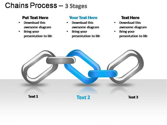 PowerPoint Template Business Chains Process Ppt Slide