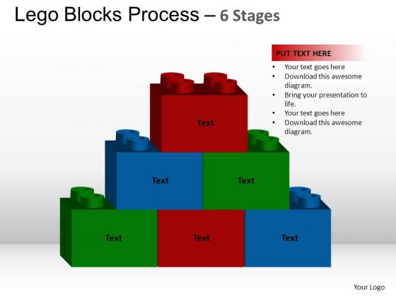 PowerPoint Template Business Lego Blocks Ppt Themes