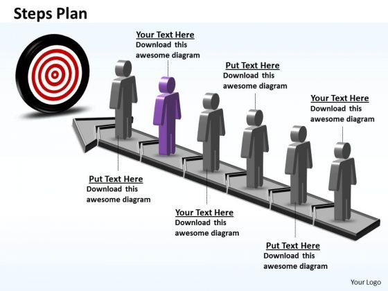 PowerPoint Template Business Steps Plan 6 Stages Style 6 Ppt Slides
