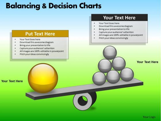 PowerPoint Template Business Teamwork Balancing Decision Charts Ppt Designs